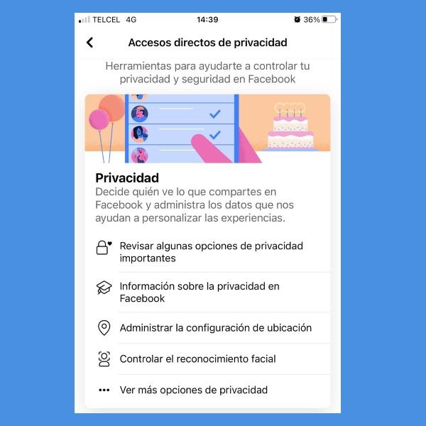 como configurar la privacidad de facebook