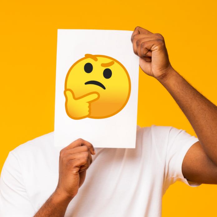 Persona con hoja en el rostro de emojis WhatsApp