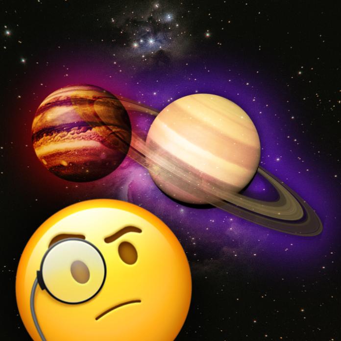 Saturno y Jupiter