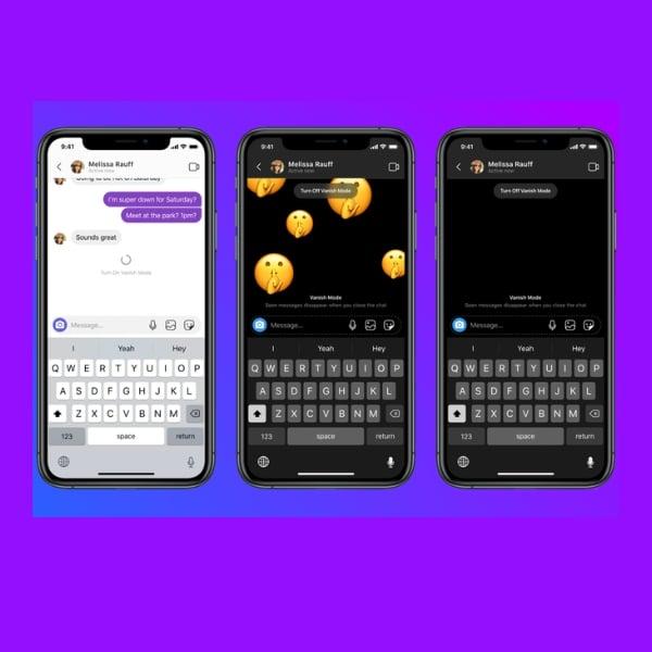 asi funcionan los mensajes temporales en instagram y facebook messenger