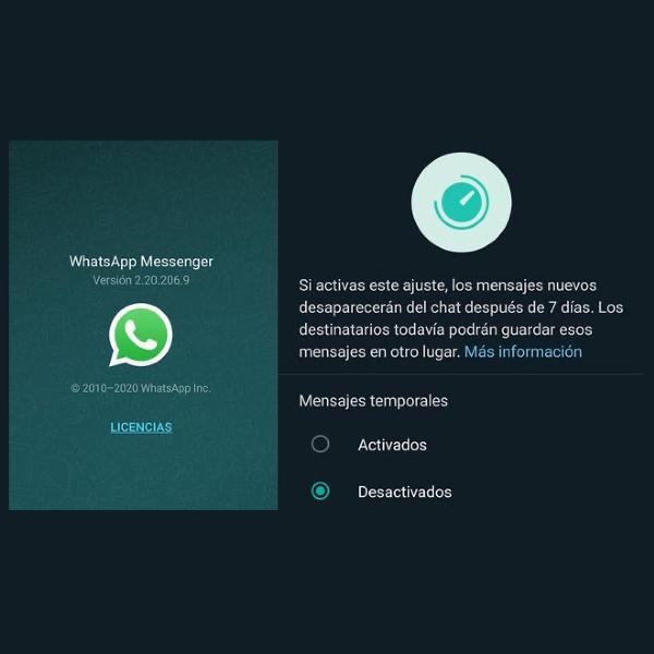 cómo saber si tienes activados los mensajes que se autodestruyen en WhatsApp