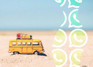 Camioneta de viaje modo vacaciones de WhatsApp