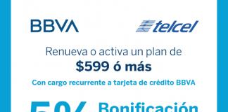 BBVA Bancomer promoción Telcel