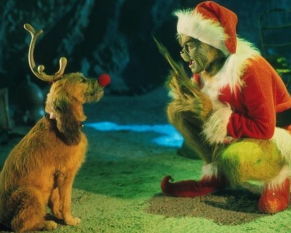 Max perro reno navideño El Grinch