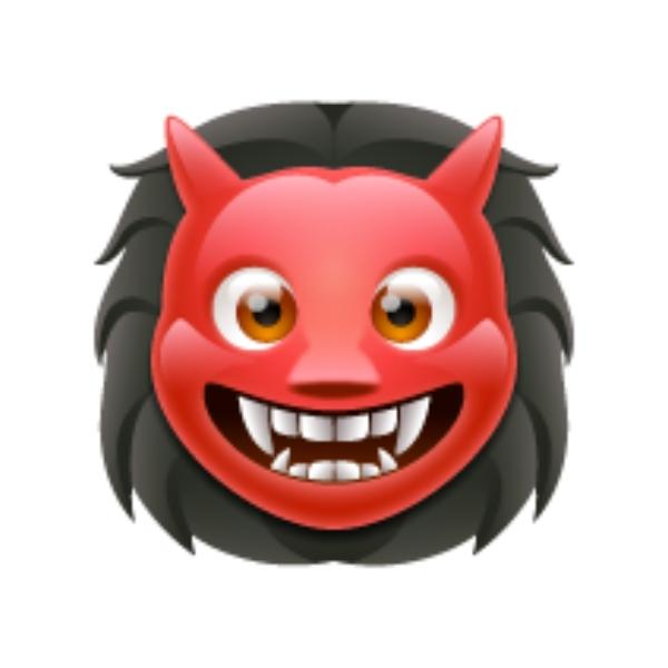 Emoji de ogro significado en WhatsApp