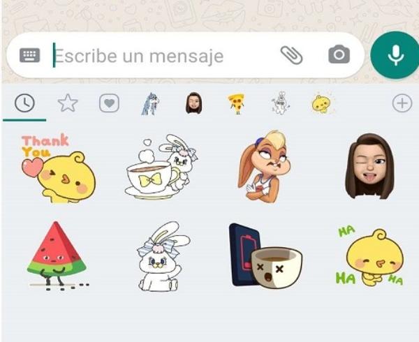 WhatsApp nuevo buscador de stickers