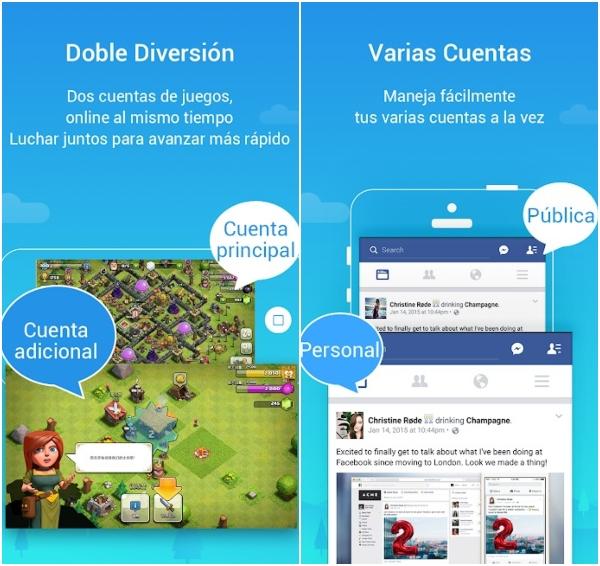 Parallel Space cómo duplicar cuentas WhatsApp