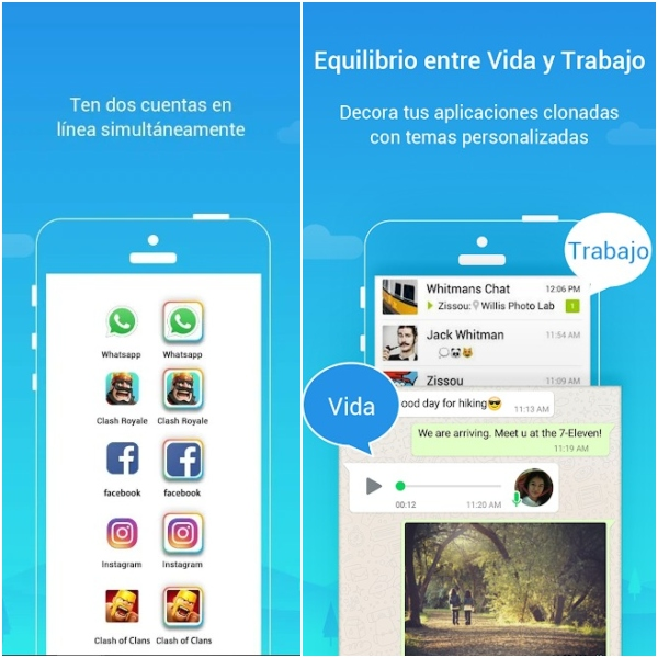 Parallel Space Google Play doble cuenta