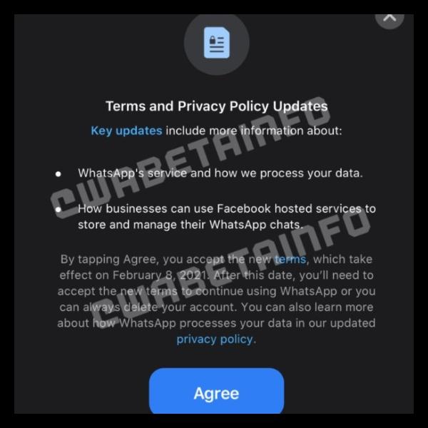 WhatsApp cambiará sus normas en 2021 y tendrás que aceptarlas para poder usarlo