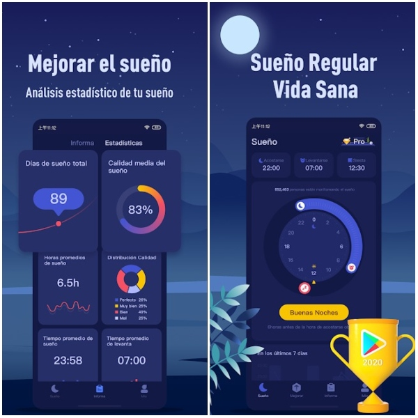 Sleep Theory Google Play mejor app del año Android