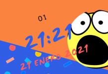 hoy será 21:21 21-21-21 Sólo sucede cada cien años