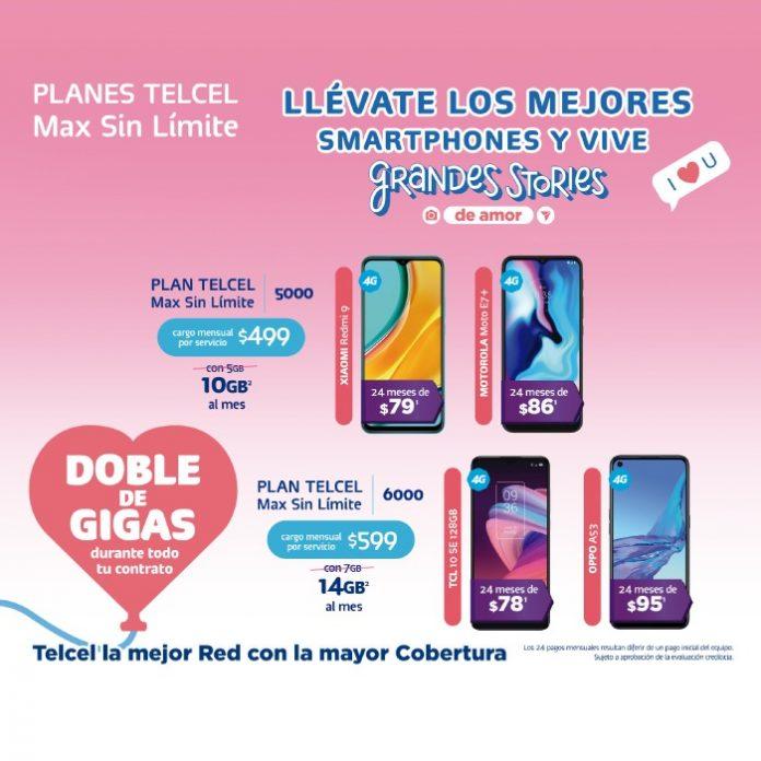 Estrena ahora el celular que deseas con tu Plan Telcel Max Sin Límite