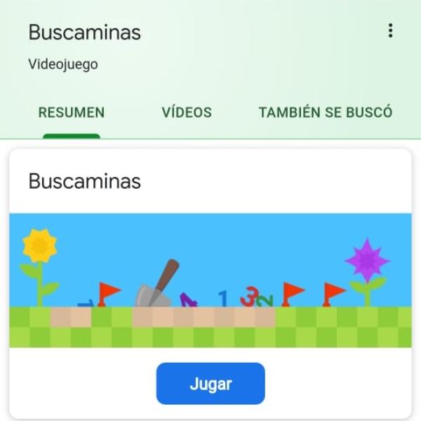 Buscaminas doodle Google juego