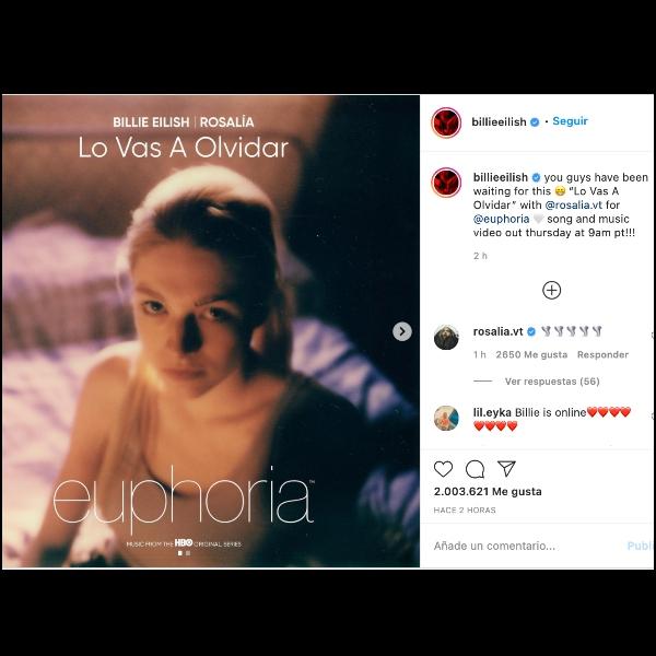 Rosalía y Billie Eilish estrenan canción para la serie Euphoria