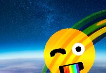 fotografía de un arcoíris en el espacio captado por un astronauta