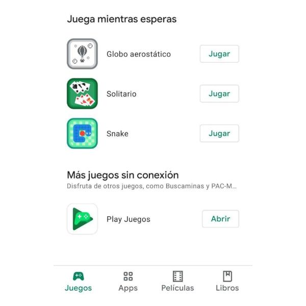 Juegos gratis sin conexión Google Play Store