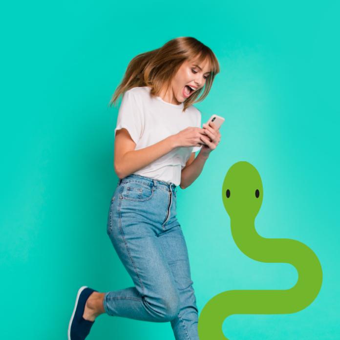 Serpiente juego teléfono
