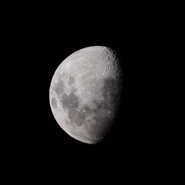 Luna fase cuarto creciente calendario astronómico enero 2021