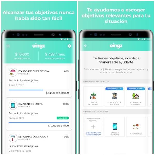 Oings apps para ahorrar 2021
