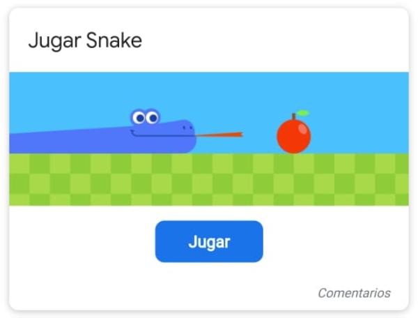 Serpiente juego Google