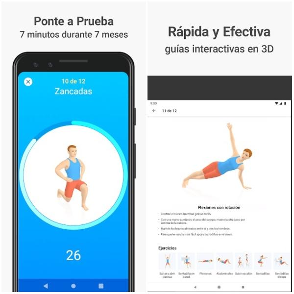 Apps para hacer ejercicio Seven