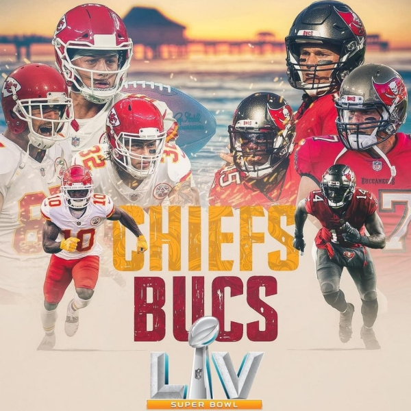 Super Bowl LV final Chiefs VS Bucs Tampa Bay