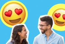 Pareja enamorada match Tinder Telegram