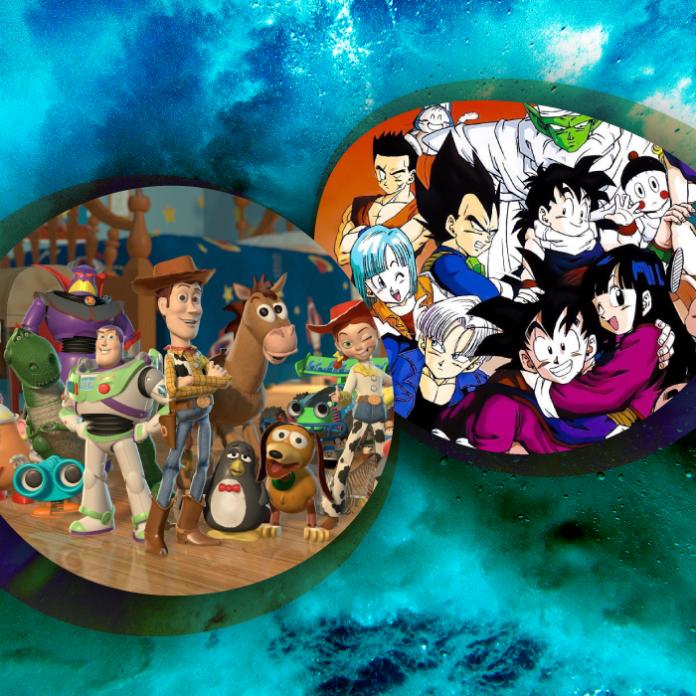 Toy Story Dragon Ball combinación