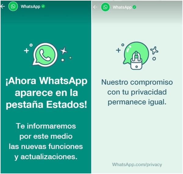 WhatsApp nuevos estados que anuncian sus cambios