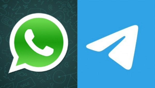 WhatsApp vs Telegram usuarios