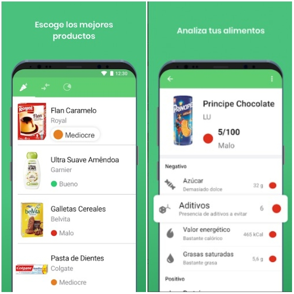 Apps para comer sano Yuka