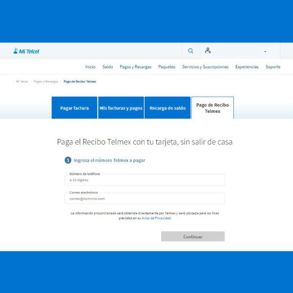 Cómo pagar mi recibo Telmex desde Mi Telcel