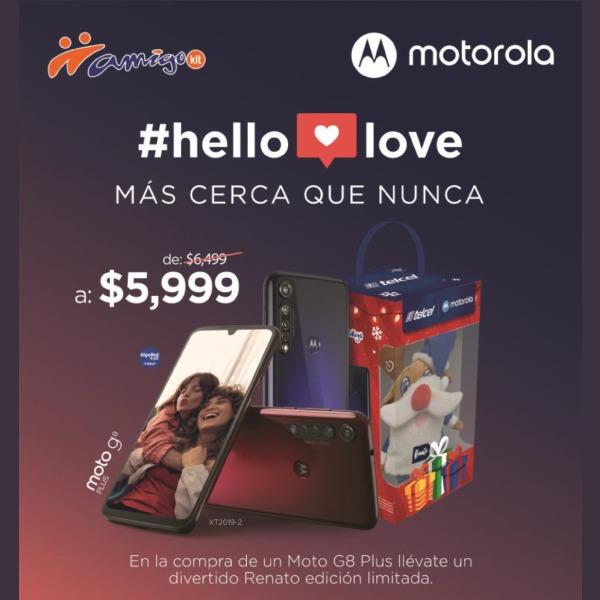 De $6,499 a $5,999 el Moto G8 Plus puede ser tuyo y además llevarte de regalo un divertido Renato de Telcel edición limitada. El regalo perfecto para este 14 de febrero.