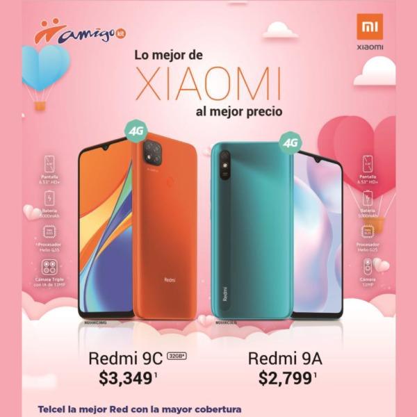 También puedes estrenar con Xiaomi a increíbles precios como el Redmi 9C a $3,349 o el Redmi 9A a $2,799.
