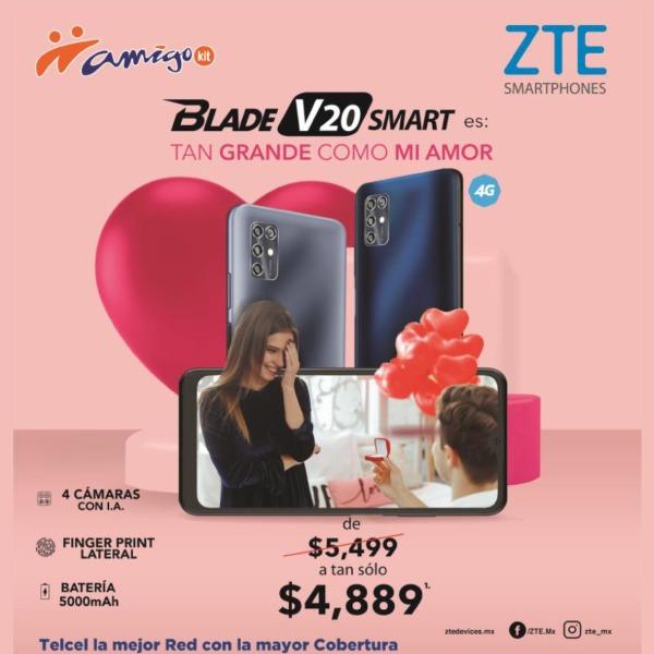 El Blade V20 Smart, otro de los más sorprendentes smartphones de ZTE, también cuenta con su propia promoción en donde te lo puedes llevar de $5,499 a sólo $4,889.