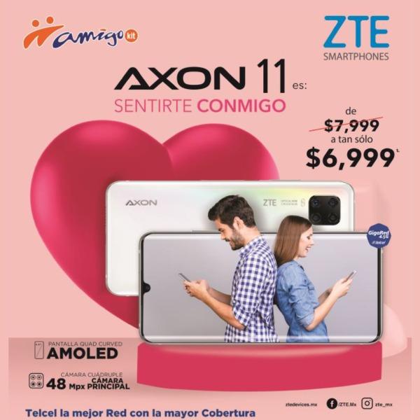 Para mantenerte siempre comunicado con esa persona especial, más ahora en el mes del amor, el AXON 11 puede ser tuyo con esta promoción de $7,999 a tan sólo $6,999.