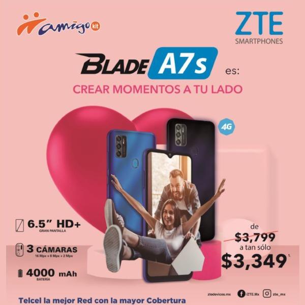 El Blade A7s es perfecto para aquellos que buscan precios accesibles ya que de $3,799 puede ser tuyo a tan sólo $3,349.