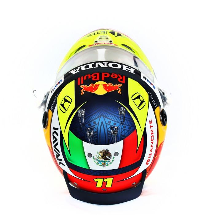Casco Checo Pérez Red Bull Racing diseño