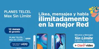 Estrena con tu Plan Telcel Max Sin Límite ¡Likea, mensajea y habla ilimitadamente!