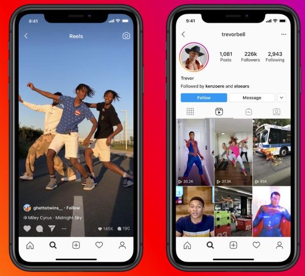 Instagram Reels prohibirá videos de TikTok