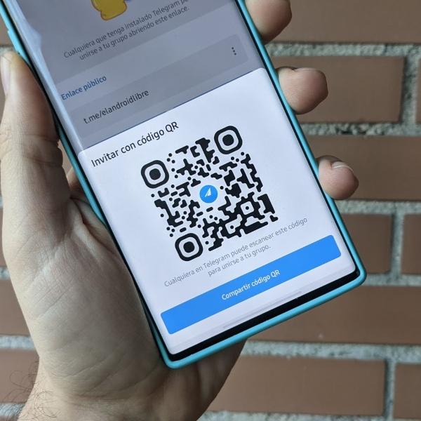 Telegram nueva función para invitar contactos código QR