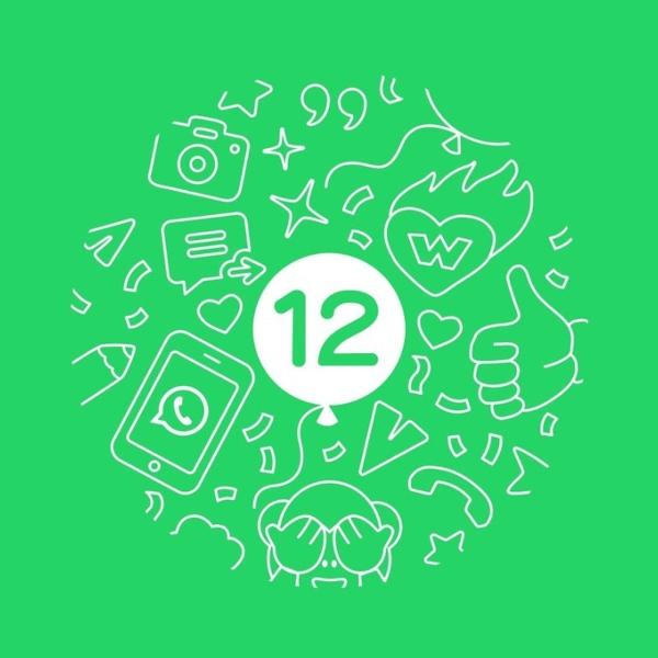 WhatsApp cumpleanos número 12 aniversario