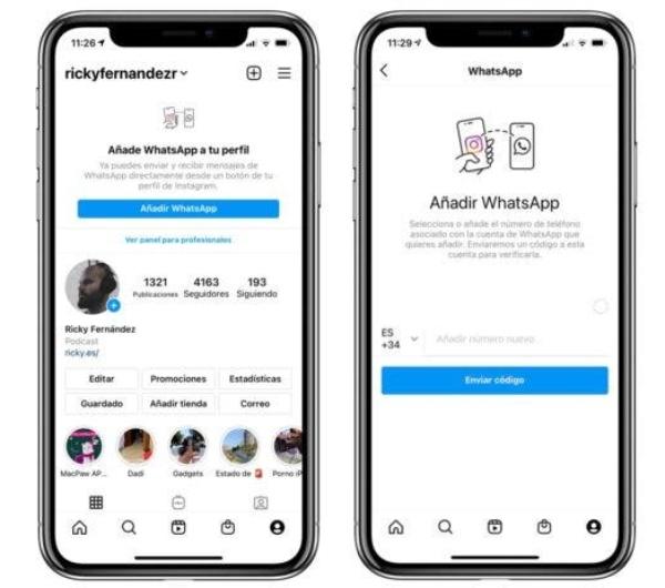 WhatsApp fusión con Instagram así luce