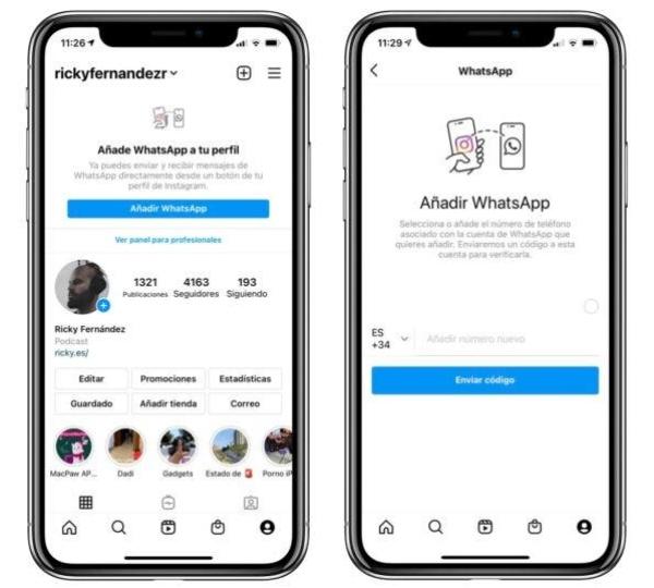Nueva función Instagram WhatsApp