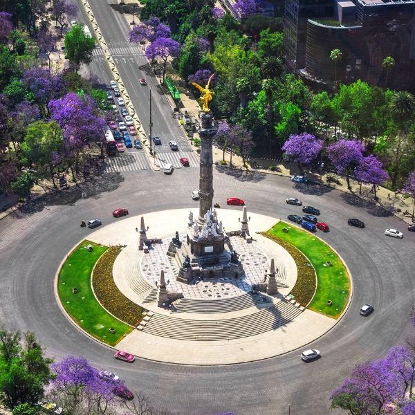 Primavera ángel de la independencia Ciudad de México