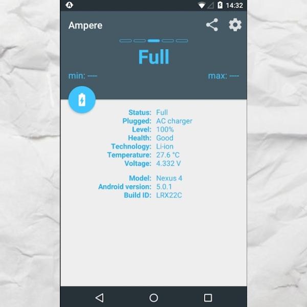 Ampere aplicación Google Play