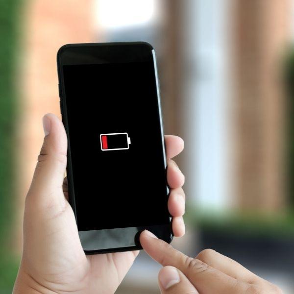 Batería baja teléfono iPhone
