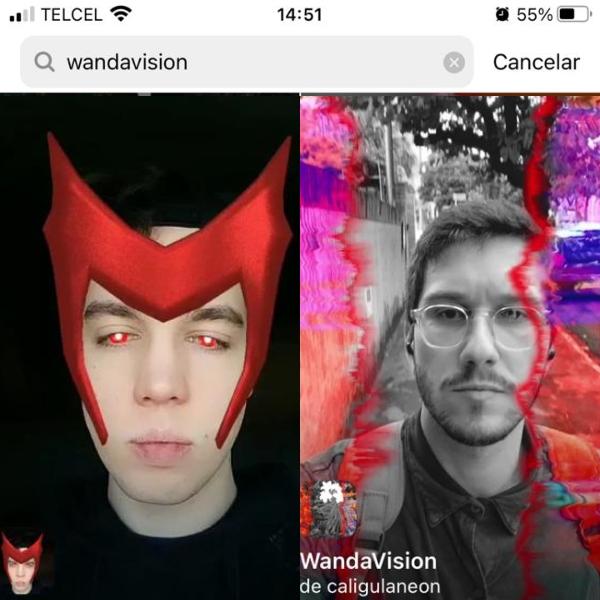 como usar los filtros de wandavision