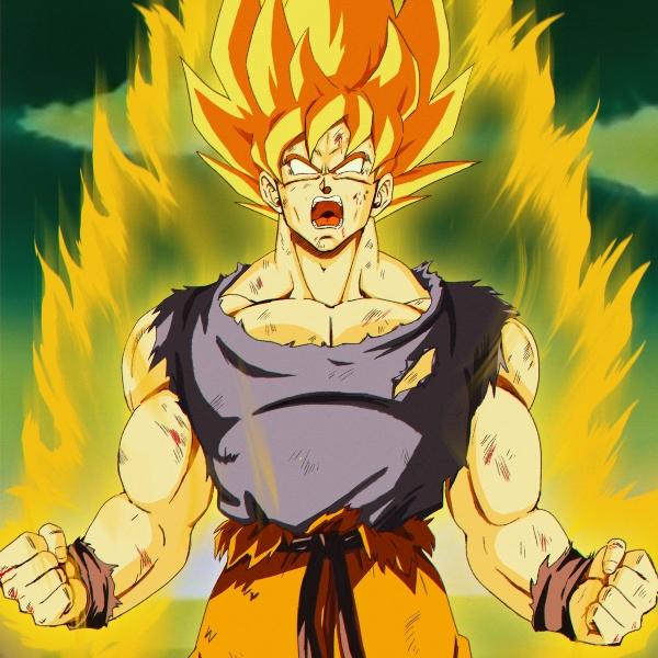 Goku se convierte en super saiyajin