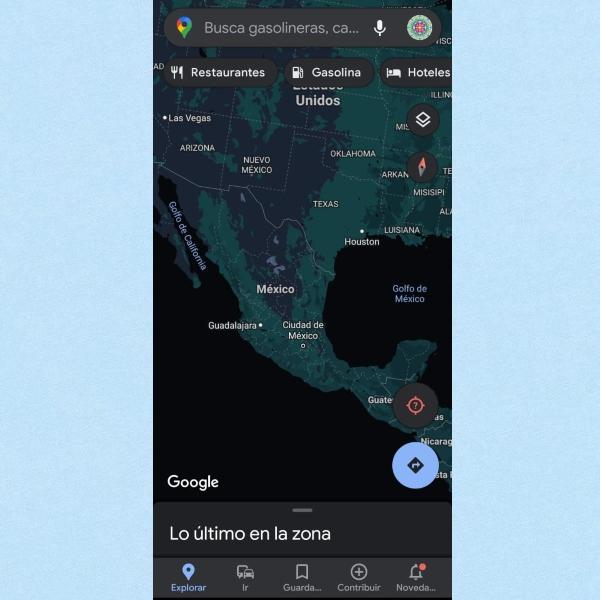 Google Maps modo oscuro